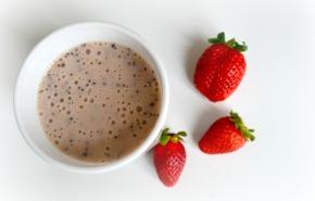 Frullato con latte di soia, frutta e semi di papavero||Energizzante